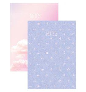 """Set 2 cuadernos 4x6"""" Lunar"""