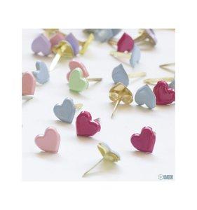 Brads 8 mm corazones Pastel