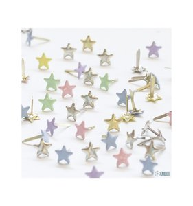 Mini Brads 5 mm estrellas Pastel
