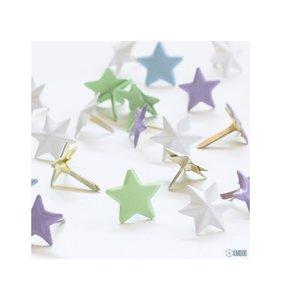 Brads 1,3 cm estrellas Pastel