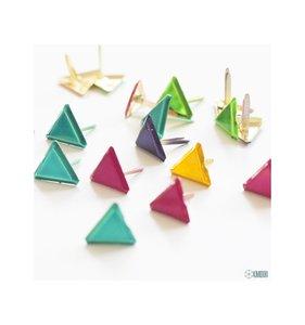 Brads surtido metalizado Triángulos