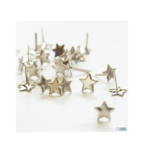 Brads estrellas plateadas 12 mm