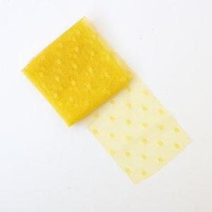 Cinta de tul con adornos Topo color Amarillo