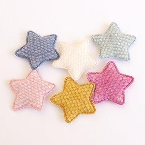 Adornos Estrellas de tela con cosidos 6 pcs