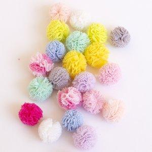 Surtido de Mini Pompones de tul colores vivos