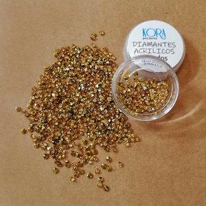 Diamantes acrílicos para Shakers Dorados 2,5 mm