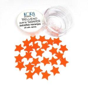 Relleno para shakers Estrellas naranjas