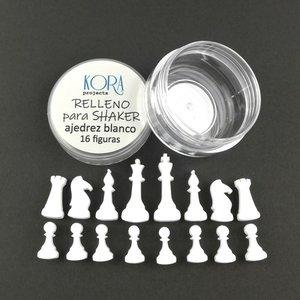 Relleno para shakers Figuras de ajedrez Blancas