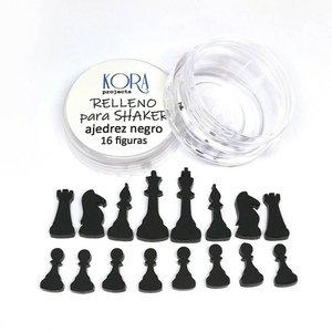 Relleno para shakers Figuras de ajedrez Negras