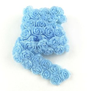 Cinta de tela Kora Projects Rosas Azul