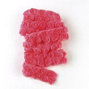 Cinta de tela Kora Projects Rosas Rojo Sandía