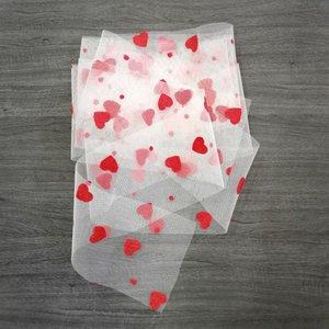Cinta Kora Projects de Tul con corazones de terciopelo Rojo