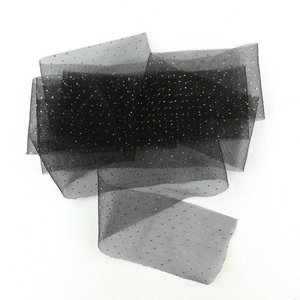 Cinta Kora Projects de Tul con lunares dorados Negro