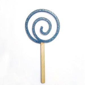 Shaker Kora Projects XL Piruleta de metacrilato glitter azul