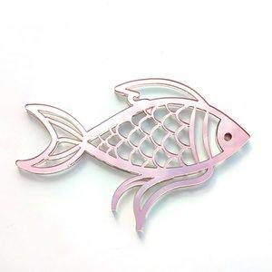 Shaker Kora Projects XL Pez de metacrilato espejo oro rosa