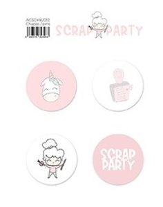 Chapas Scrap Party Alua Cid