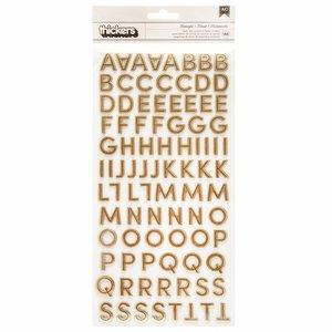 """Alfabeto 6x12"""" Gold Foil Spoooky de Pebbles"""