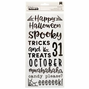 """Pegatinas palabras puffy 6x12"""" Spoooky de Pebbles"""