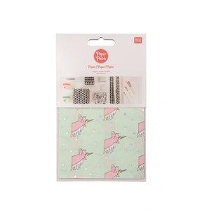 Set papel decoupage 3 hojas 30x42 cm Unicorns