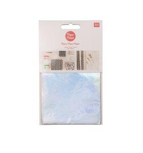 Set papel decoupage 3 hojas 30x42 cm Foil Iridiscent