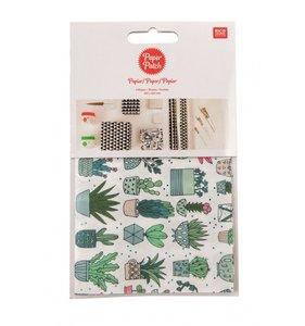 Set papel decoupage 3 hojas 30x42 cm Hygge Cactus