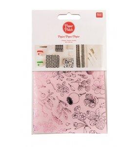 Set papel decoupage 3 hojas 30x42 cm Hygge Flowers Berry