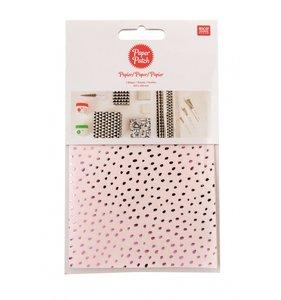 Set papel decoupage 3 hojas 30x42 cm Hygge Dots Pink
