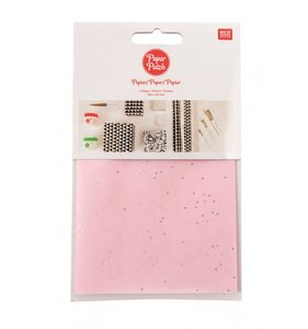 Set papel decoupage 3 hojas 30x42 cm Wonderland Dots Pink