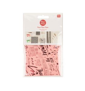 Set papel decoupage 3 hojas 30x42 cm Love Lettering