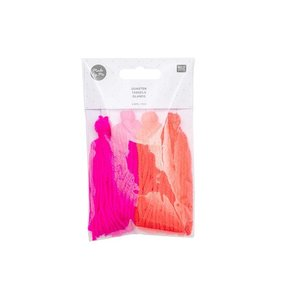 Set de pompones de lana neon