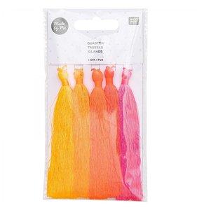 Set de pompones de hilo neon