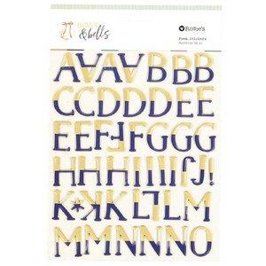Alfabeto de foam con foil Bows and bells