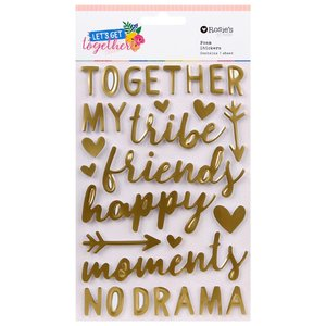 Pegatinas foam frases con foil Lets get together