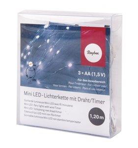 Set luces LED 1,2 m blancas