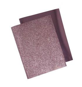 Láminas de transfer textil purpurina y foil rosa
