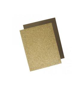 Láminas de transfer textil purpurina y foil dorado