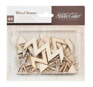 Formas de madera Chevron y diamantes
