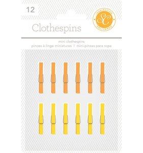 Mini pinzas Yellow