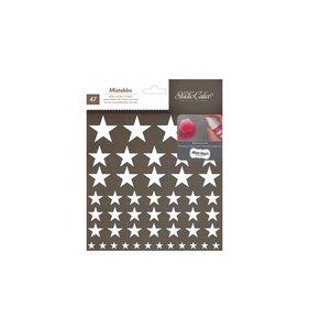 Pegatinas de tela para decorar estrellas