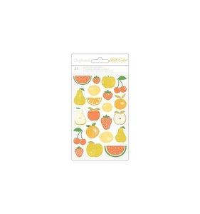 Pegatinas de chipboard frutas