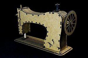 Forma en MDF Snip Art Sewing Machine 3D