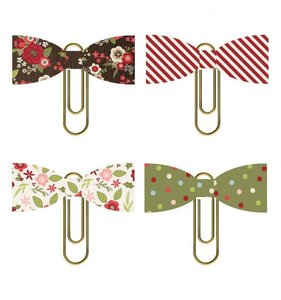 Clips con lazos Simple Stories Holly Jolly