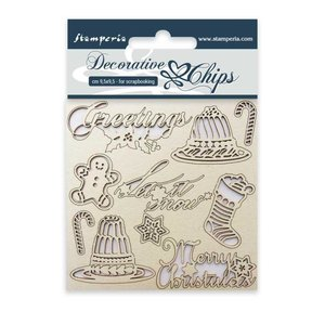 Stampería Decorative Chips Classic Christmas
