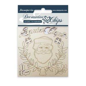 Stampería Decorative Chips Santa Claus