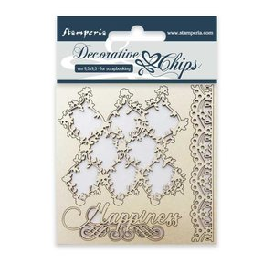Stampería Decorative Chips Lace and Border