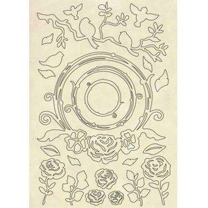 Hoja con formas de madera Stampería Hortensia Garlands