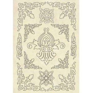 Hoja con formas de madera Stampería Princess Ornaments