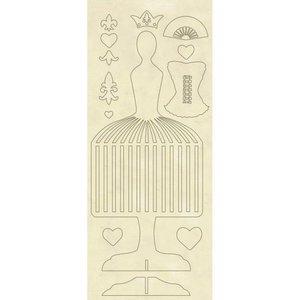 Hoja con formas de madera Stampería Princess Mannequin
