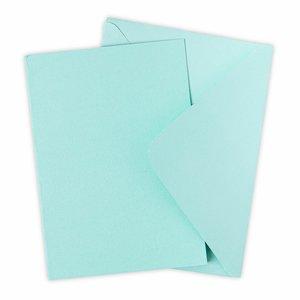 Sizzix Surfacez Card & Envelope Pack Mint Julep 10 pcs