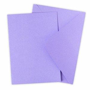 Sizzix Surfacez Card & Envelope Pack Lavender Dust 10 pcs
